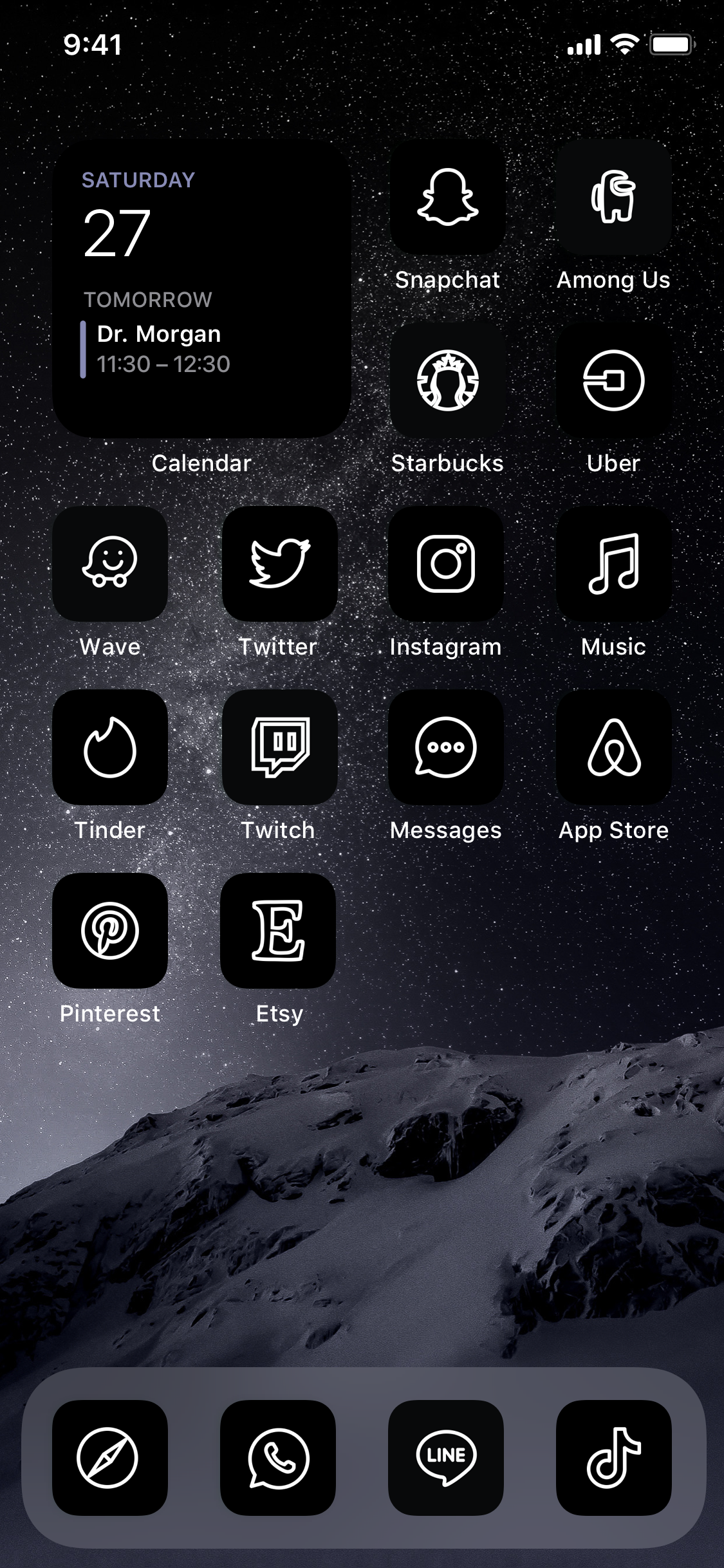 Cover image for 120 Black Aesthetic App Icon Covers for iOS 14 Home Screen